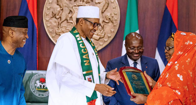 Buhari Reiterates His Commitment To Development In Trade, Business Sector