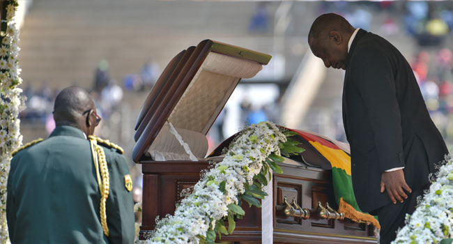 Crowd Boos Ramaphosa At Mugabe's Funeral Over Xenophobic Attacks