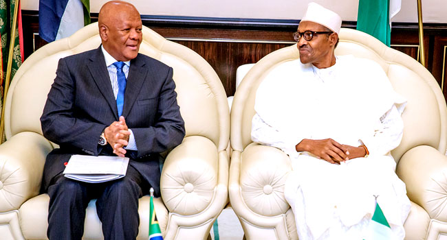 Buhari Meets With South African Special Envoy