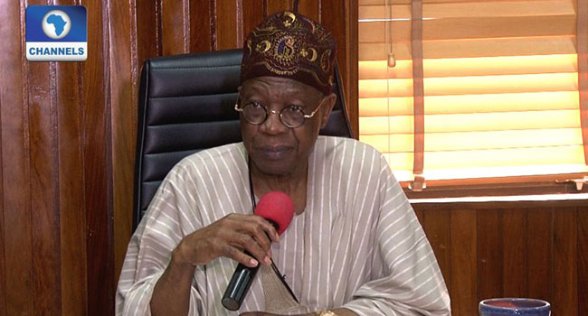 FG Does Not Play Politics With Security – Lai Mohammed