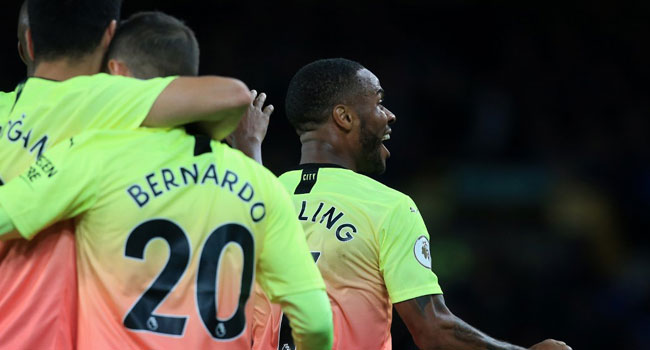 Man City Beat Everton To Keep Liverpool In Sight