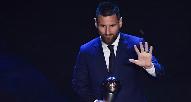Lionel Messi Wins FIFA Men's Player Of The Year Award