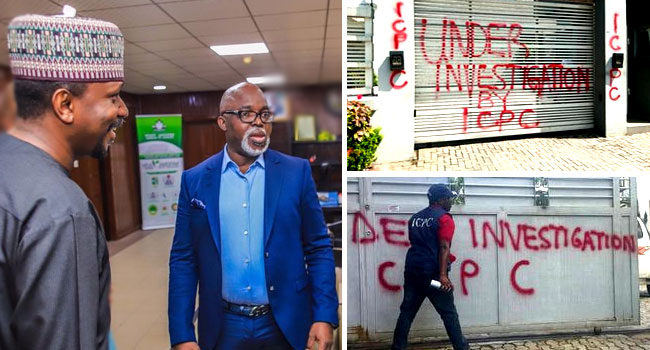PHOTOS: ICPC Seals Houses Owned By NFF President Pinnick, Dikko