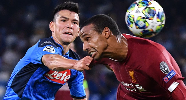 Napoli Beat Champions Liverpool In Champions League Opener