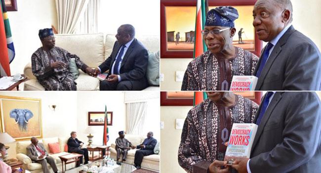 Obasanjo Visits President Ramaphosa Of South Africa