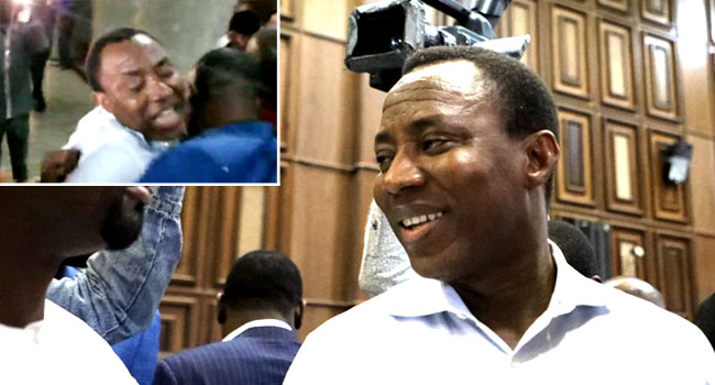VIDEO: 'This Is A Lawless Country', Sowore Says In Struggle With Security Agents