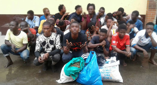 43 Arrested Over Illegal Activities In Lagos