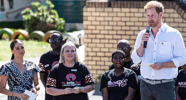 Prince Harry, Wife Condemn Violence Against Women In South Africa