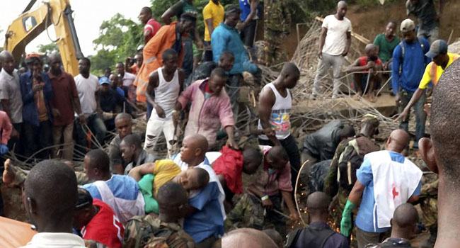 Sierra Leone Fighting To Rescue Survivors Of Building Collapse