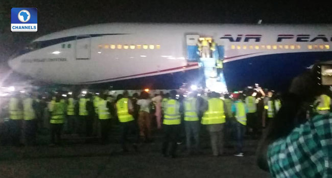 188 Nigeria Returnees Arrive MMIA From South Africa