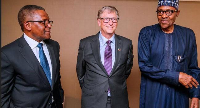 Buhari Applauds Bill Gates, Dangote For Humanitarian Activities In Nigeria