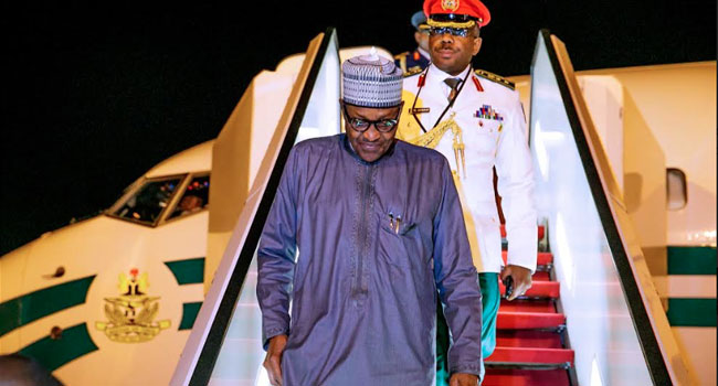 Buhari Returns To Abuja After Attending UNGA In New York