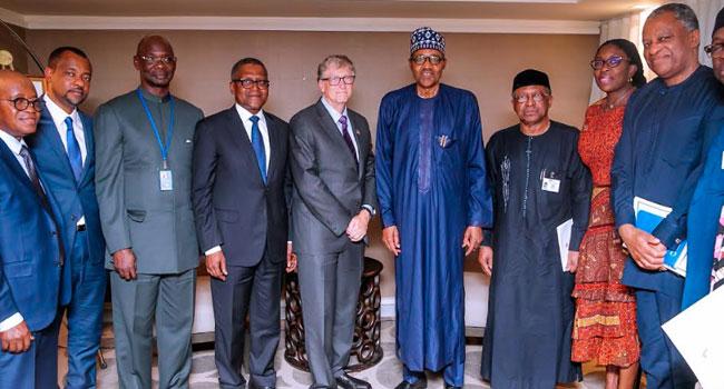 PHOTOS: Buhari Meets Bill Gates, Dangote In New York