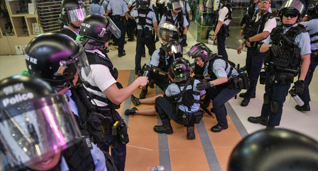Hong Kong Police Claim Protester Fired Live Round At Officers