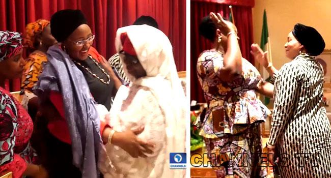 VIDEO: Jubilation As Aisha Buhari Returns To Aso Villa