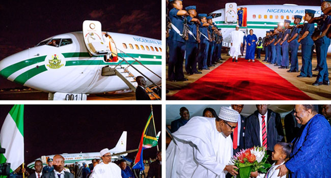 Image result for PRESIDENT BUHARI ARRIVES IN SOUTH AFRICA