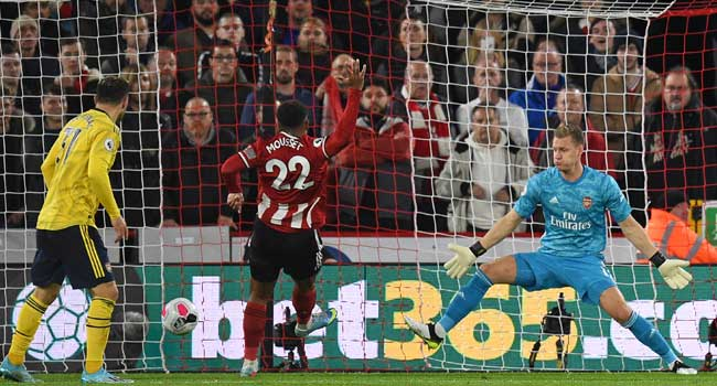 Arsenal Suffer Shock Defeat To Sheffield United In EPL