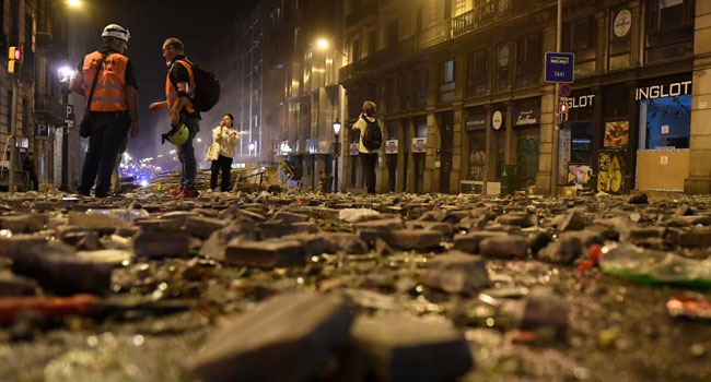 Fears Of More Violence In Barcelona As Separatists Call For New Protest
