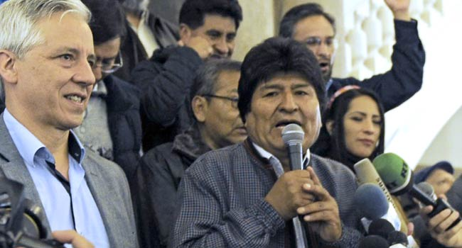 Bolivia's Morales Seeks Fourth Term, Wins First Round In Presidential Election
