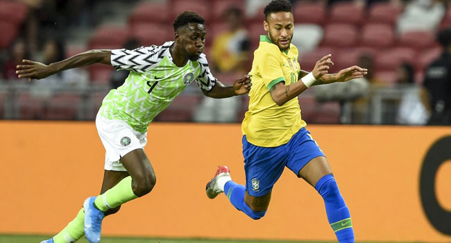 VIDEO: Super Eagles Grab Half-Time Lead Against Brazil In Singapore