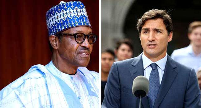 Buhari Congratulates Canadian PM Trudeau On Re-Election