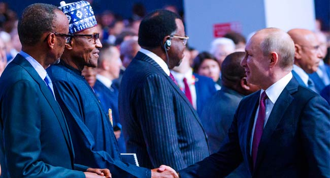 PHOTOS: Buhari Participates In Russia-Africa Economic Forum Plenary Session
