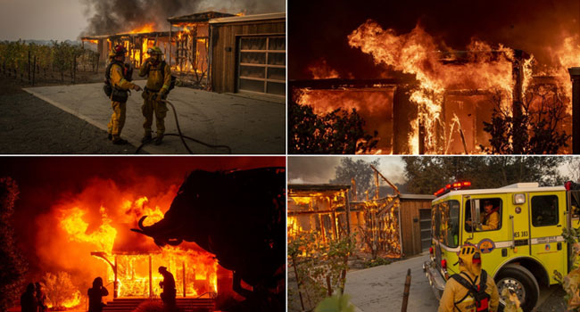 State Of Emergency Declared As California Fires Spread