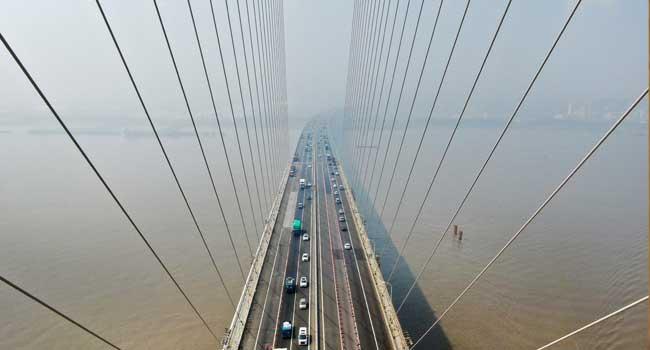 China Road Bridge Collapses, Traps Cars Underneath