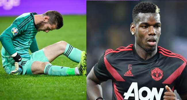Pogba, De Gea To Miss Liverpool Clash Due To Injury