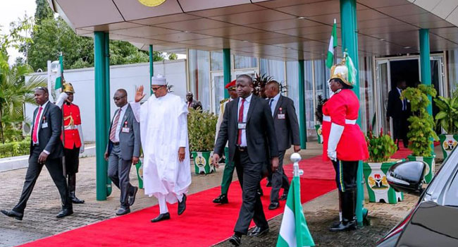 Buhari, 10 Governors And Ministers Depart Abuja For South Africa