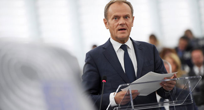 Tusk Recommends EU Leaders Back Brexit Extension