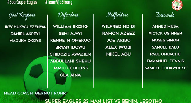 Rohr Invites Players For 2021 AFCON Qualifiers