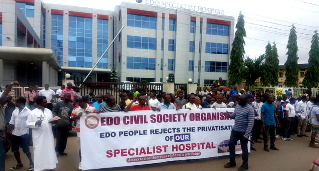 Civil Societies Protest, Reject Privatisation Of Edo Specialist Hospital