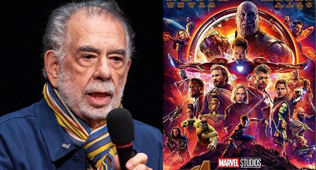 Coppola Backs Scorsese, Calls Marvel Films 'Despicable'