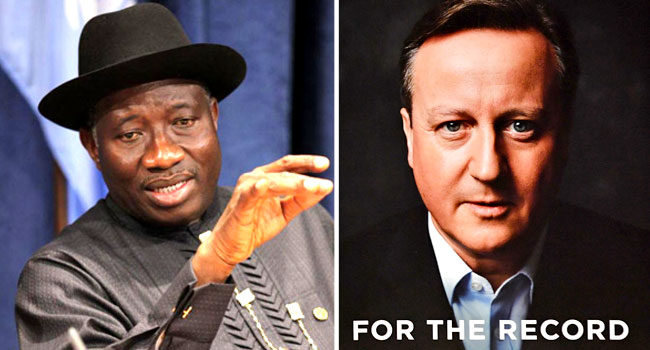 Jonathan Slams Ex-British PM Cameron Over Claims On Chibok Abduction