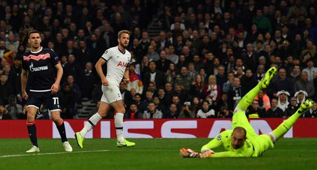 Champions League: Kane, Son Double Up To Reawaken Tottenham's Challenge