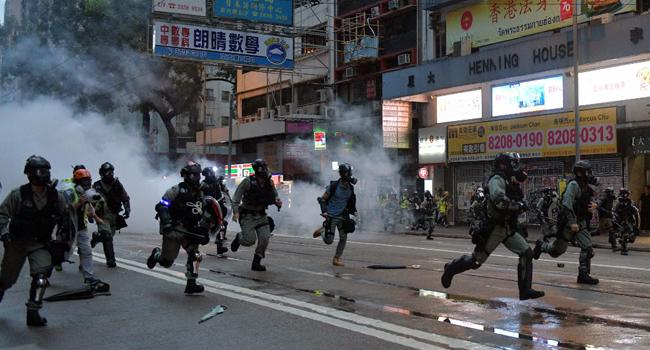 Hong Kong Hit By Fresh Violence As Thousands Defy Mask Ban
