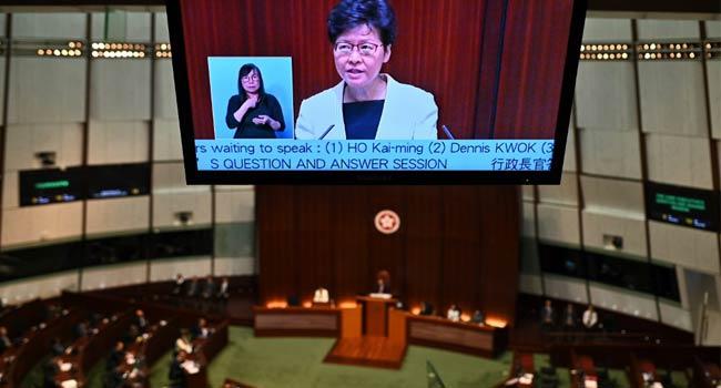 Angry Emojis Flood Hong Kong Leader's Facebook Live Chat