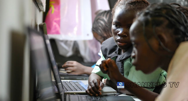 PHOTOS: Young Girls Partake In Computer Exercise To Mark 2019 International Day Of The Girl Child