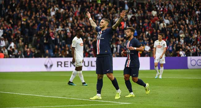 Ligue One: Icardi Scores First Goal As PSG Cruise Past Angers