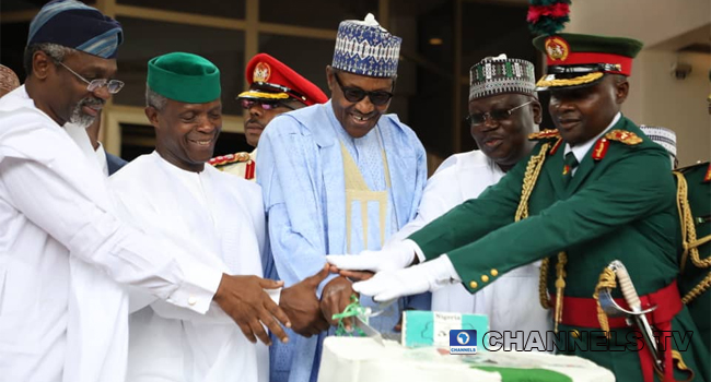 PHOTOS: Buhari, Osinbajo, Others Participate In Independence Anniversary Celebrations