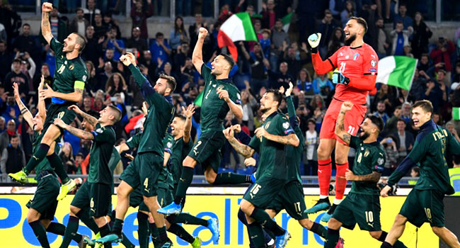 Italy Beat Greece To Seal Spot At Euro 2020