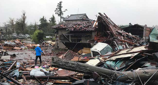 Two Dead As Powerful Typhoon Hits Japan