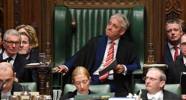 Britain's Speaker Bercow Quits Brexit Hot Seat