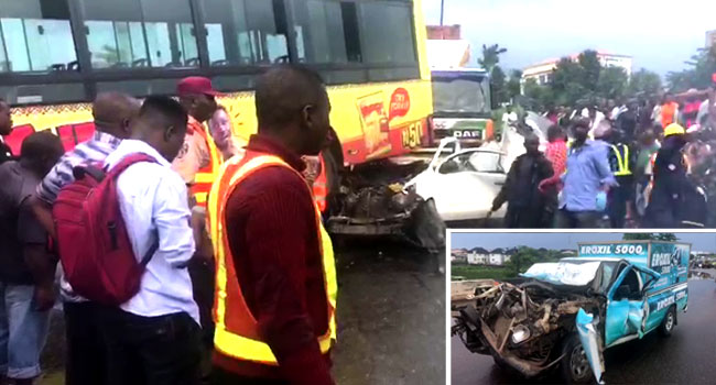 VIDEO: Two Feared Killed In Otedola Bridge Accident - Channels Television