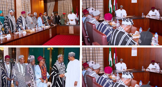 No Compromise On National Unity, Buhari Tells Benue Traditional Leaders