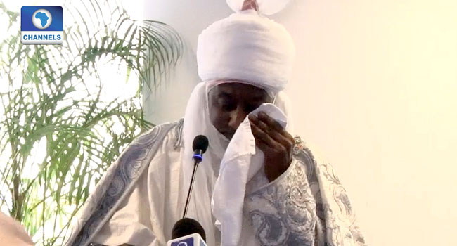 VIDEO: Sanusi Weeps, Narrates How Sick Child Died In Mother's Arms Over $5