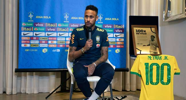 Neymar Happy To Reach Brazil 100th Cap Milestone