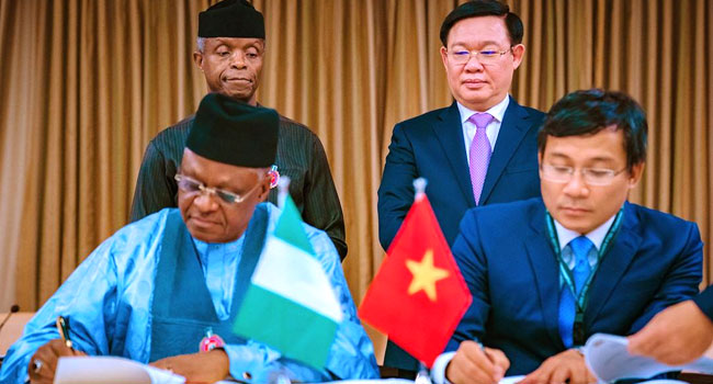 Nigeria, Vietnam Sign Visa Waiver Deal For Diplomatic, Official Passport Holders
