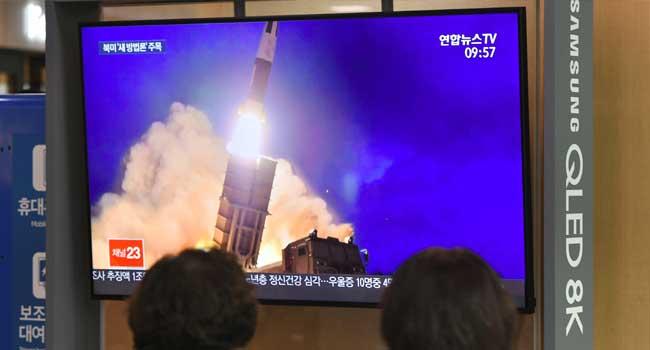 North Korea Fires Ballistic Missile Ahead Of Nuclear Talks